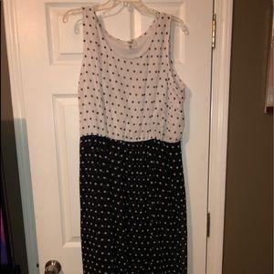Black/ white Polka dot dress
